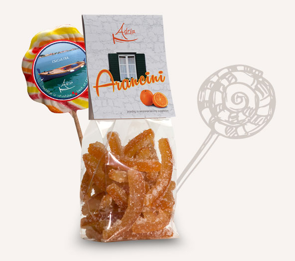 Candied fruit, Lollipops